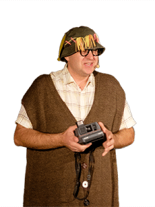 le comédien Mr Roger Grimbuche, instituteur comique et magicien, comédie magiquee et câfé théâtre ou d'humour, comme un one man show